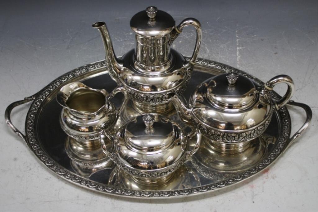 25: American 5pc Tiffany Sterling Tea Service 19th C.
