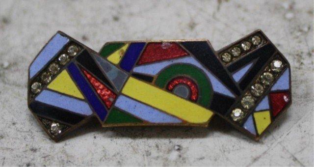 3: Czech Art Deco Enamel Mosaic Brooch