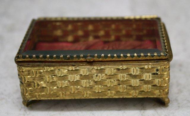 6: Victorian Dresser Box w/ Basket Weave