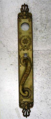 8: Art Nouveau Bronze Door Handle prob. French