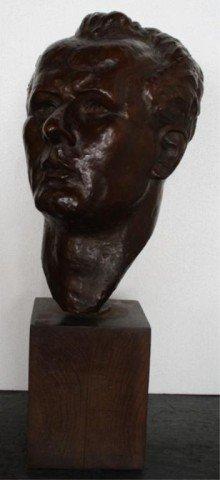 11: Marina Nunez del Prado Bronze Head Sculpture