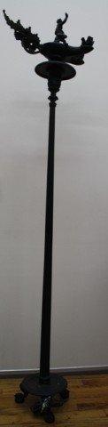 19: E.F. Caldwell & Co. NY Bronze Floor Lamp ca. 1880
