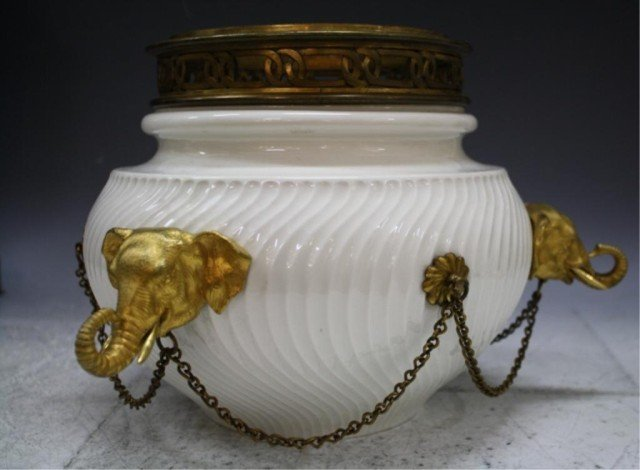 20: German Bronze Mounted Porcelain Jardiniere c.1890