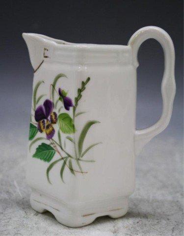 22: Porcelain Milk Pitcher w/ Flowers 1890s