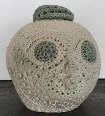 24: Alexander Ney Terra Cotta Sculpture of Head 1990