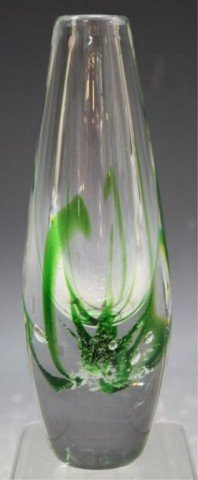 13: Swedish Kosta Vicke Lindstrand Art Glass Vase