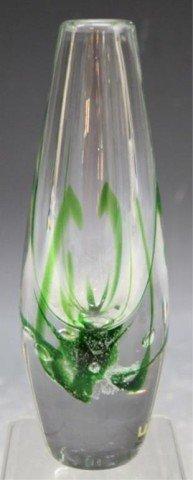 13: Swedish Kosta Vicke Lindstrand Art Glass Vase - 3