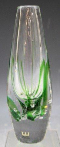 13: Swedish Kosta Vicke Lindstrand Art Glass Vase - 4