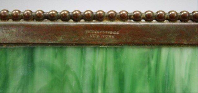 16: Tiffany Bronze Overlay Glass Art Nouveau Ink Well - 6
