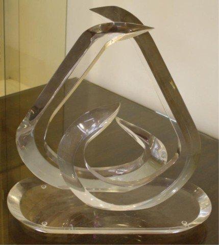 18: Mid Century Van Teal Lucite Sculpture Signed - 2