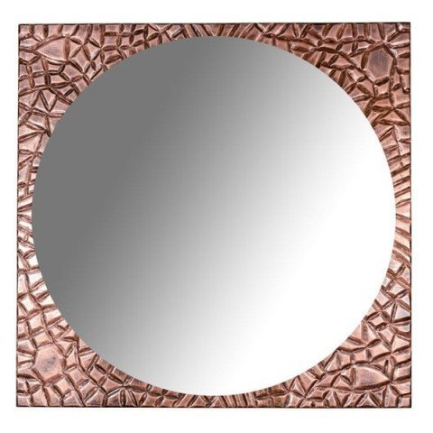 20: American Mid Century Hammered Copper Mirror
