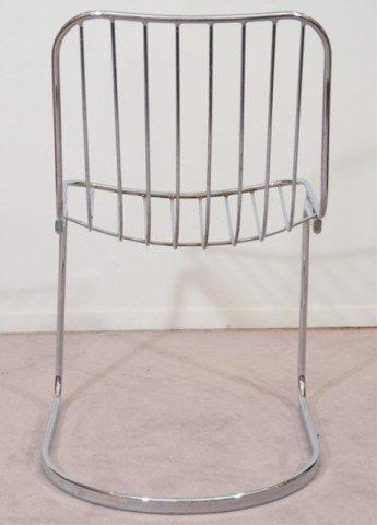 22: Pair of Mid Century Tubular Chrome Frame Chairs - 2