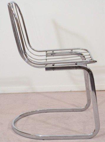 22: Pair of Mid Century Tubular Chrome Frame Chairs - 3