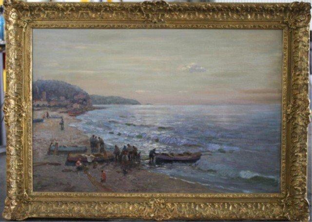 """409: Federico Morello Painting """"Spiaggia di Noli"""""""