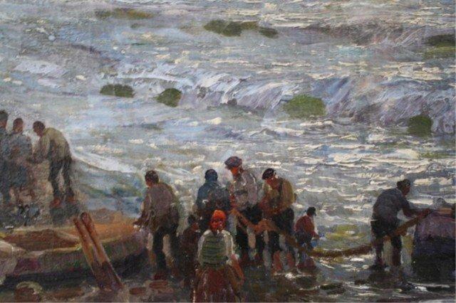 """409: Federico Morello Painting """"Spiaggia di Noli"""" - 3"""