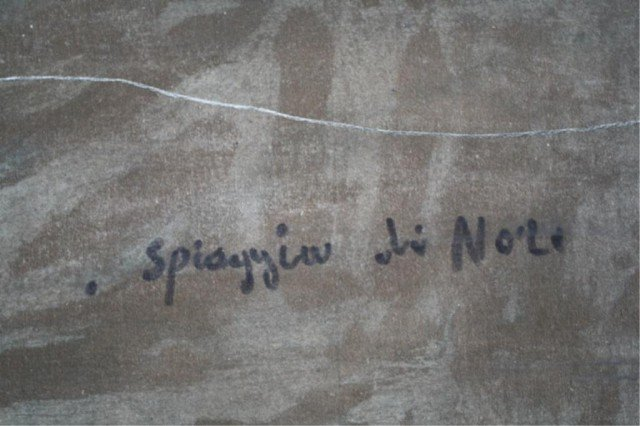 """409: Federico Morello Painting """"Spiaggia di Noli"""" - 8"""
