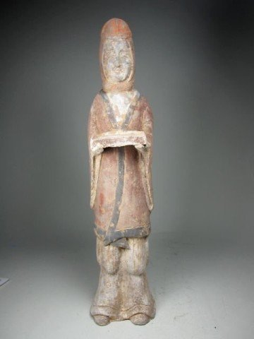 19: Chinese Northern Wei Pottery Attendant Figure