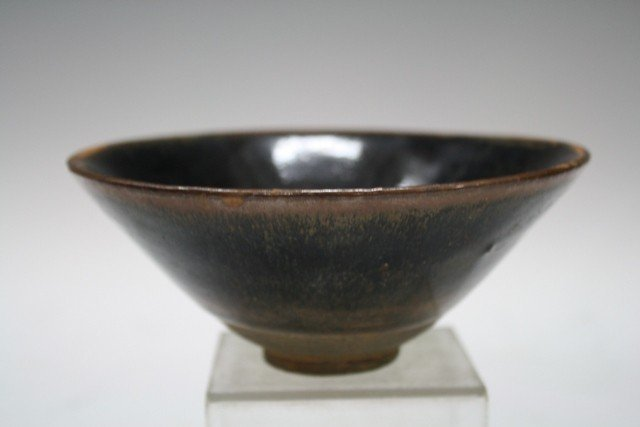 26: Chinese Hare's Fur Black Glazed Pottery Tea Bowl