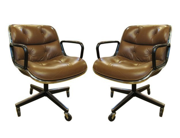8 Knoll Executive Chairs Charles Pollock 1980s