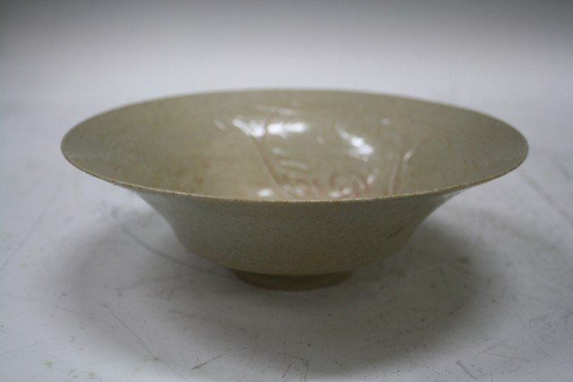 10: Chinese Qingbai Ceramic Molded Bowl w/ Fish