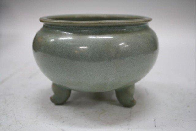 13: Chinese Longquan Celadon Style Tripod Bowl