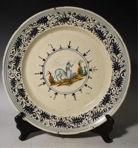 5: Persian Charger with Animal w/ Acanthus Leaves