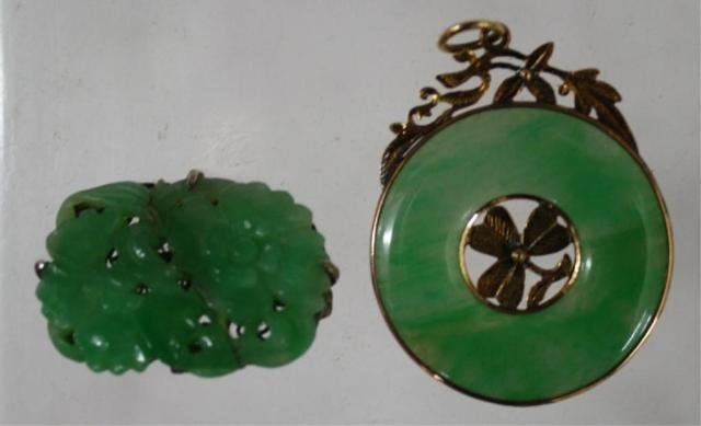 124: Lot of 2 Chinese Jadeite Pendants
