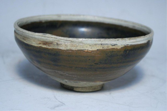 602: Chinese Tenmoku Glazed Bowl Song Dyn