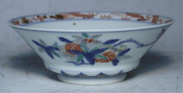 608: Japanese Iro-e Tea Bowl 19th Century