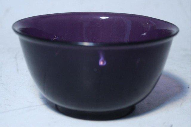 610: Japanese Kobashi Purple Glass Bowl