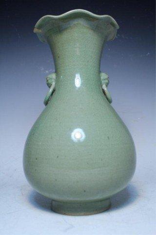 613: Chinese Celadon Glazed Ceramic Vase