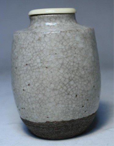 616: Japanese Shino Ceramic Tea Caddy Edo Period