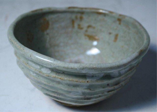 617: Japanese Shigaraki Tea Bowl 19th Century