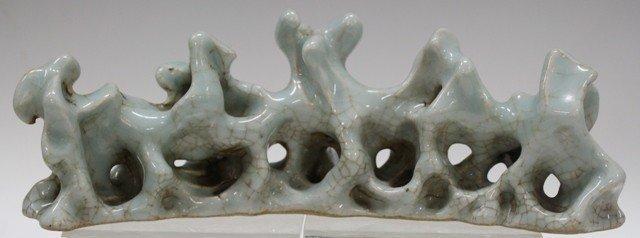 Chinese Crackle Glaze Porcelain Brush Rest