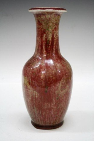 Chinese Peachbloom Porcelain Vase