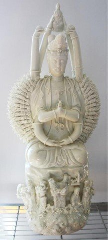 Chinese Blanc de Chine Thousand Hand Buddha