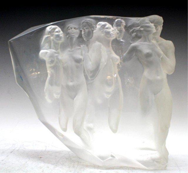 American Frederick Hart Gerontion Lucite Sculpture