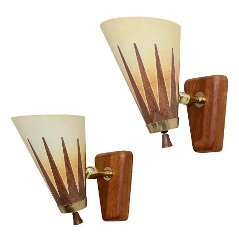 A Pair of Mid Century Articulated Modern Sconces