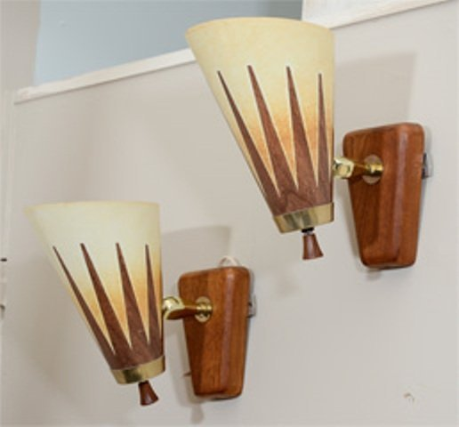 A Pair of Mid Century Articulated Modern Sconces - 2