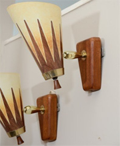 A Pair of Mid Century Articulated Modern Sconces - 3
