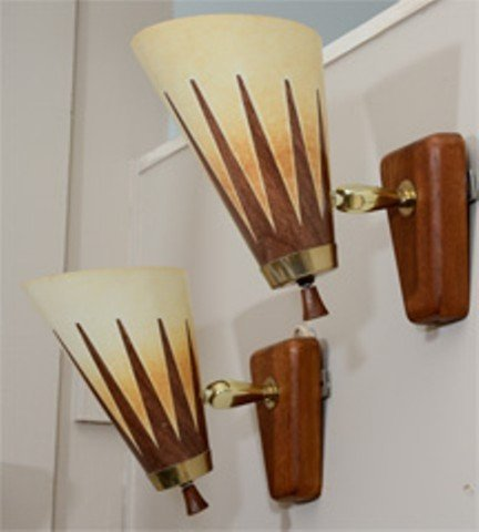 A Pair of Mid Century Articulated Modern Sconces - 4