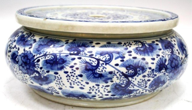 Chinese Blue & White Porcelain Hand Warmer