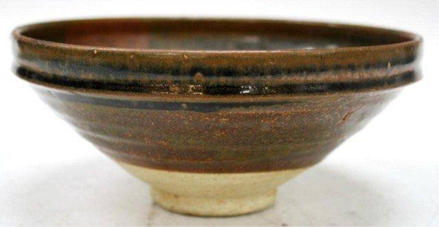 Chinese Brown Pottery Bowl Yuan Dyn.