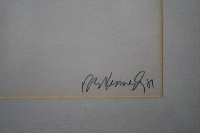 """R.E. Kennedy """"Bannister's Wharf"""" Lithograph 1981 - 3"""