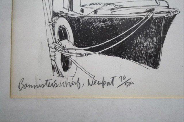 """R.E. Kennedy """"Bannister's Wharf"""" Lithograph 1981 - 4"""