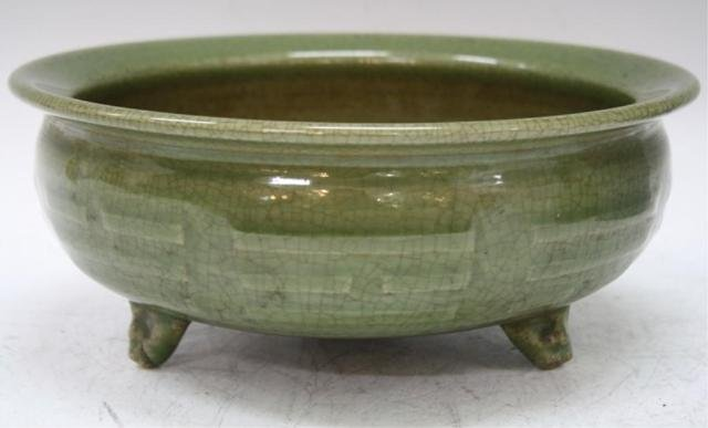 Chinese Green Longquan-Style Ceramic Censer
