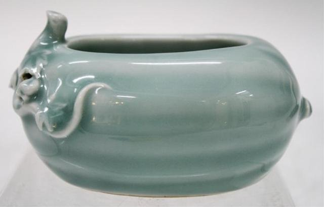 Chinese Clair de Lune Porcelain Brush Washer