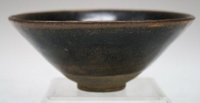 Chinese Hare's Fur Glaze Pottery Tea Bowl