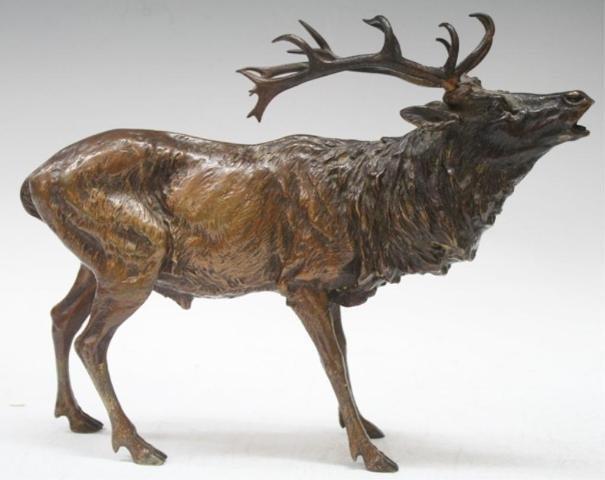 Austrian Bergman Vienna Bronze Elk