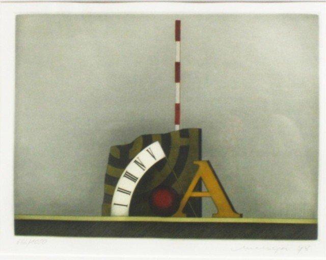 German Friedrich Meckseper Color Etching 1978